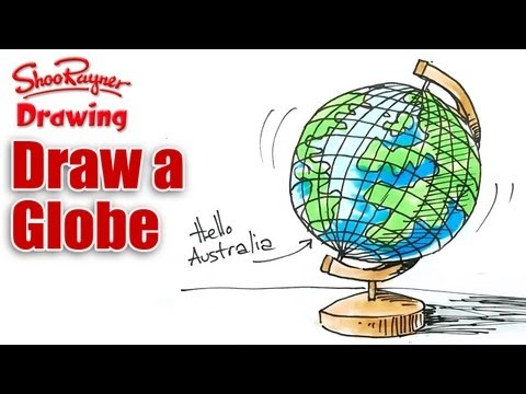 How to draw a Globe Real Easy