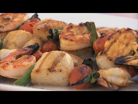 Shrimp And Scallop Kabobs HD