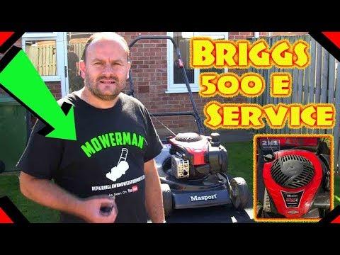 Briggs And Stratton 500 E Petrol Lawnmower Engine Full Service.