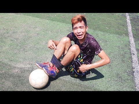PHD  Thử Thách Trói Chân Đá Bóng  Football Challenge