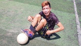 PHD | Thử Thách Trói Chân Đá Bóng | Football Challenge