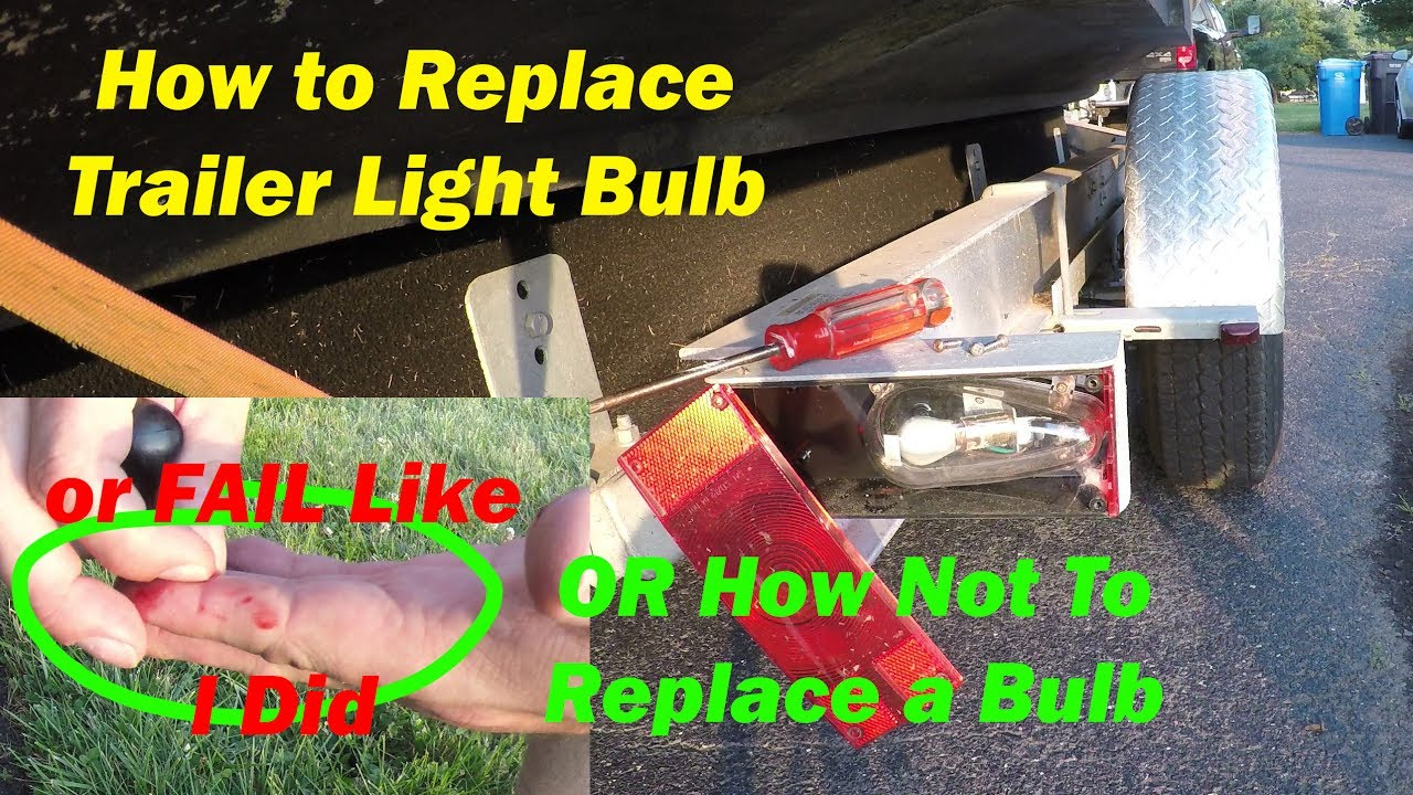 How To Replace Brake Light On A Boat Trailer Install Wiring For Lights Bulb Blown 1157