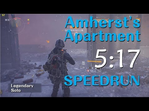 The Division - Amherst's Apartment Legendary Solo SpeedRun 05:17 [PC#1.8.1] WR