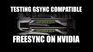 G-Sync Compatible Review Feat Agon AG241QX and GTX 1080 SLI Freesync on Nvidia