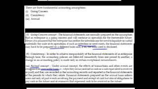 Fundamental Accounting Assumptions - A0107