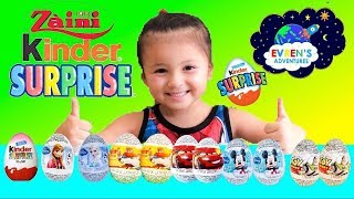 11 KINDER SURPRISE EGGS OPENING! Kinder Disney Surprise Toys 3D Collections Disney Cars Toys Review