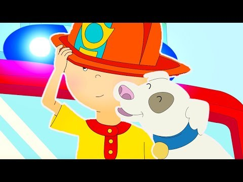 Caillou goes to the FIRE STATION  Funny Animated cartoon for Kids  Cartoon Caillou l Cartoon Movie