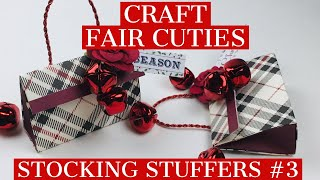 CRAFT FAIR ALERT #3!! 🎄STOCKING STUFFERS 🎄Made From A 6x6 Piece Of Paper...CRAZY EASY!!