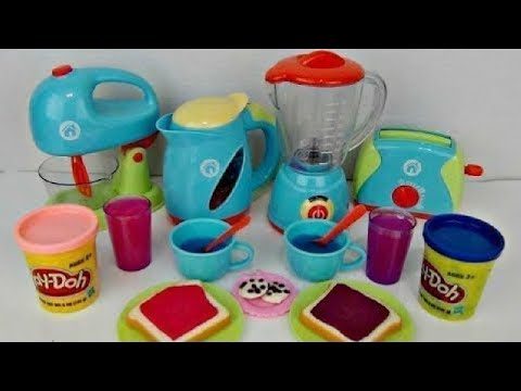 JUST LIKE HOME Deluxe KITCHEN Appliance Full Set, Play-doh Bake Mix Magic Slime Frozen Elsa /TUYC