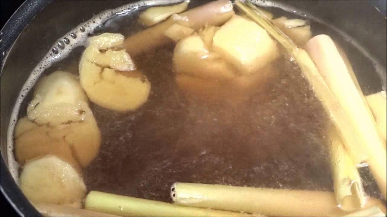 comment préparer une infusion au gingembre/citron/citronnelle