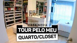 TOUR PELO MEU QUARTO/CLOSET
