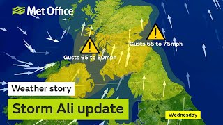 Storm Ali is going to bring potentially damaging winds to northern ...