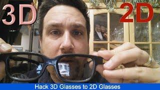 Hack 3D Glasses to 2D Glasses - Family Vlog 107