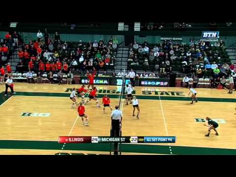 Illinois at Michigan State Highlights - BTN Broadcast