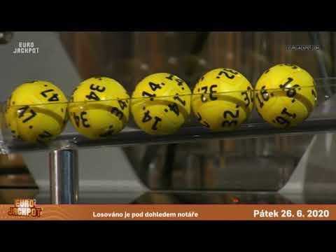 Eurojackpot - 26. 6. 2020