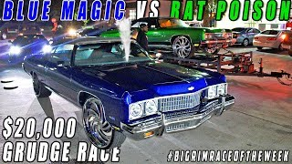 Video BLUE MAGIC VS RAT POISON $20,000 STREET RACE ! Turbo Donk Vs Turbo Donk  #BIGRIMRACEOFTHEWEEK download MP3, 3GP, MP4, WEBM, AVI, FLV September 2018