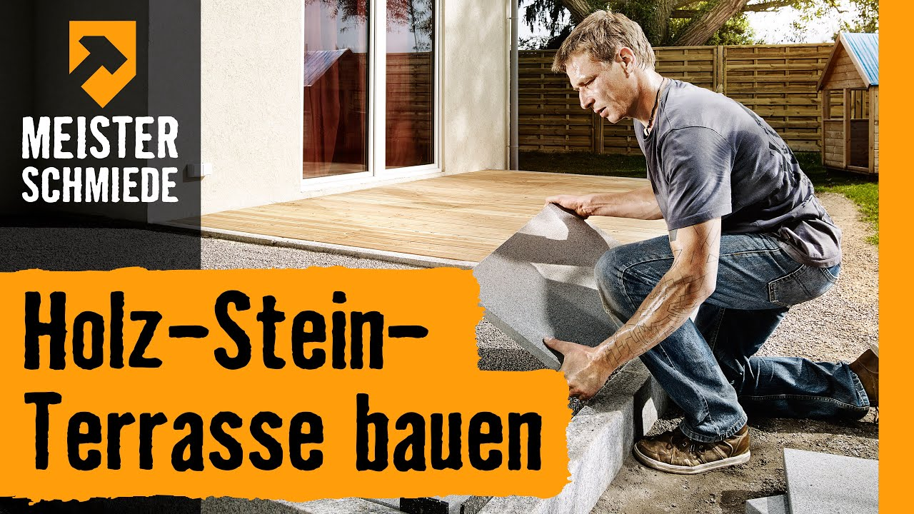 holz stein terrasse bauen hornbach meisterschmiede youtube. Black Bedroom Furniture Sets. Home Design Ideas