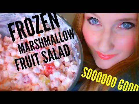FROZEN Marshmallow Fruit Salad Dessert! 🍨