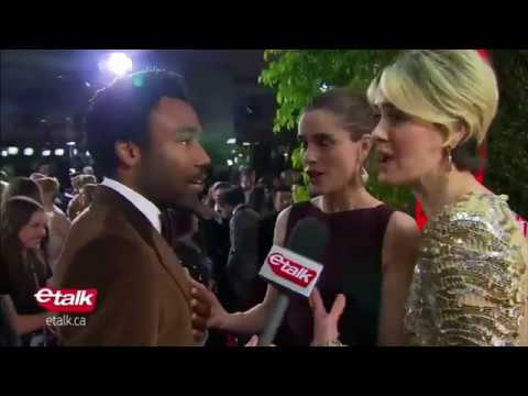 Donald Glover Encounters His 'Biggest ' on the Golden Globes Red Carpet 2017