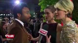 Donald Glover Encounters His 'Biggest Fan' on the Golden Globes Red Carpet 2017