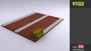 Fascia Exterior Cladding Without Rivet & Screw Fixing