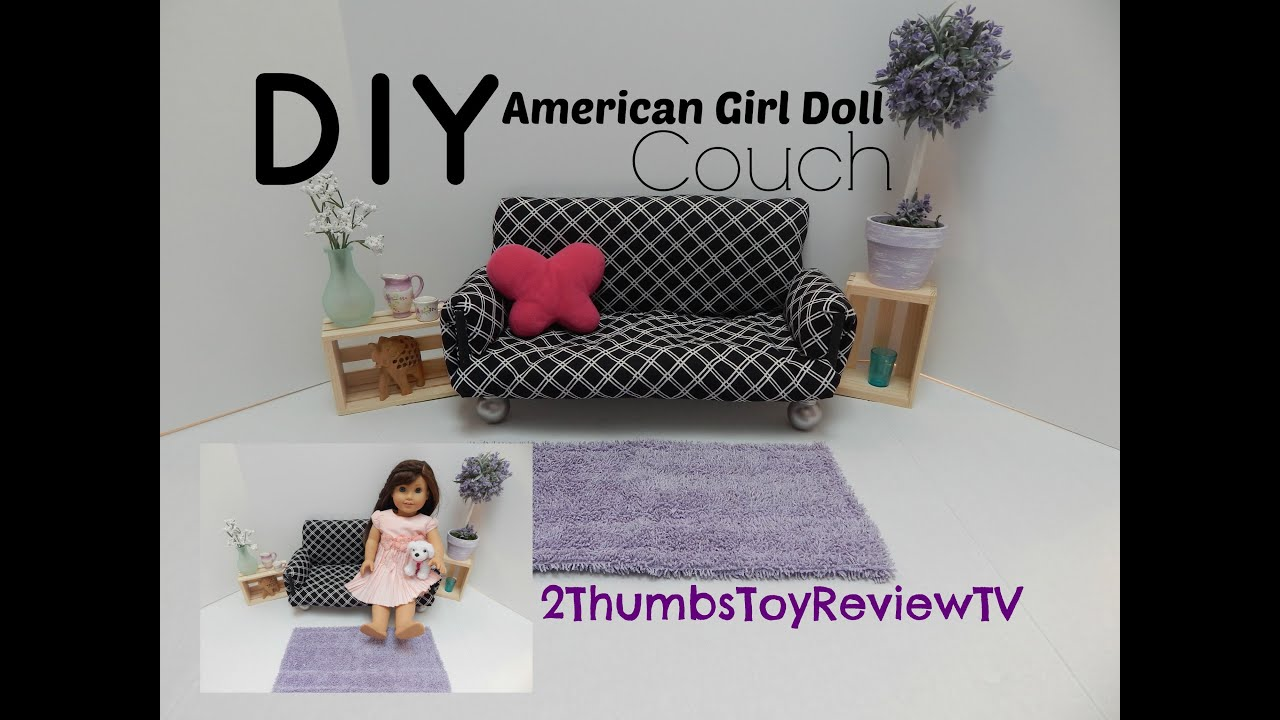 18 doll sofa diy beds r us american girl couch youtube