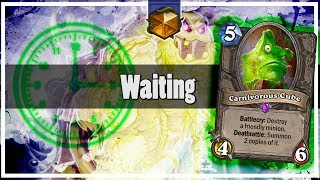 Hearthstone: Waiting For Carnivorous Cube... Using Moat Lurker