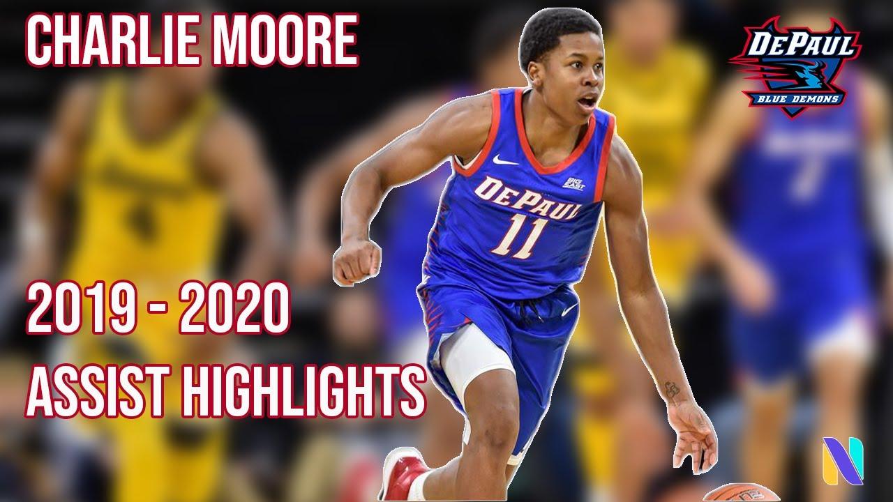 Charlie Moore Kansas Jayhawks Basketball Jersey-Blue
