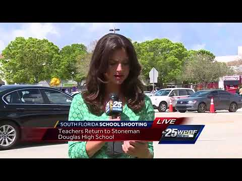 Teachers return to Marjory Stoneman Douglas High School