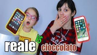 REAL FOOD VS CHOCOLATE FOOD - REALE vs CIOCCOLATO CHALLENGE
