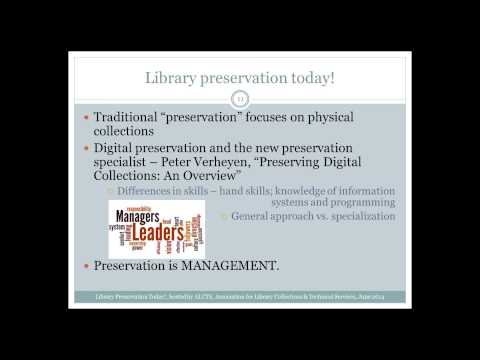 Introduction to Library Preservation