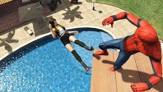 GTA 5 Water Ragdolls | SPIDERMAN Jumps/Fails #24 (Euphoria physics | Funny Moments)