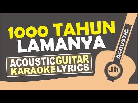 Tulus - 1000 Tahun Lamanya (Acoustic Karaoke Version)