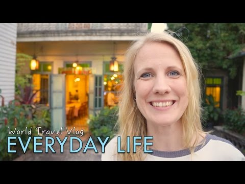 """Everyday life"" when we long term travel - weekly routine"