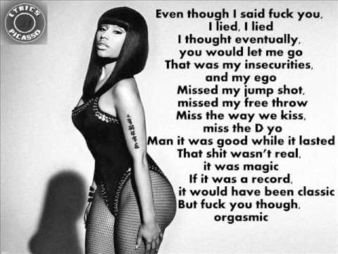 Nicki Minaj - I Lied (Lyrics)