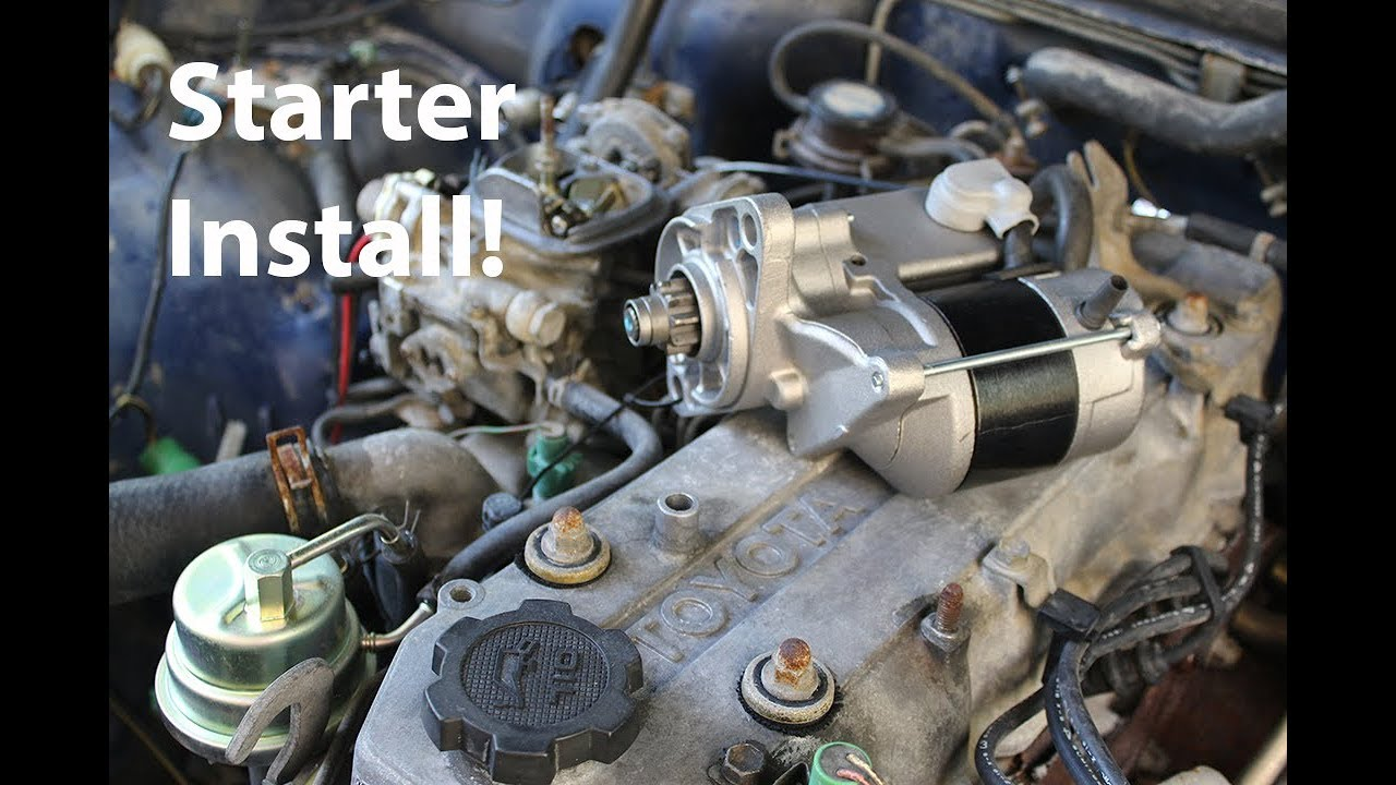 How To Install Starter Motor On A 22r Rustbucket Update Youtube Wiring