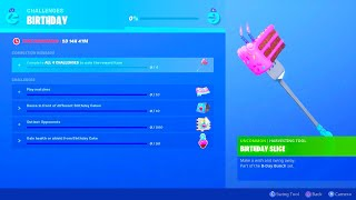FORTNITE NEW 2ND YEAR BIRTHDAY CELEBRATION REWARDS! NEW FORTNITE BIRTHDAY CELEBRATION CHALLENGES