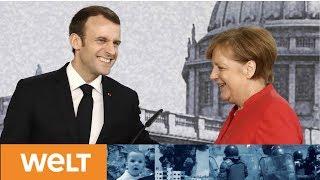 Flüchtlinge, Sicherheit und Bankenunion: Wie Merkel Präsident Macron an die Kandare nehmen will