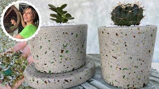 Vaso De Cimento Com Técnica Granilite
