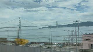 【プチ動画】明石海峡大橋 JR線 新快速列車の車窓から