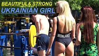 Beautiful and strong Ukrainian girl - Workout at IRON LAND