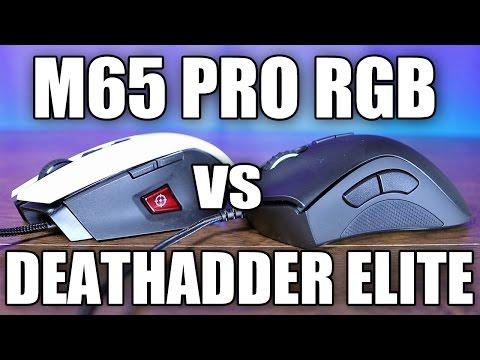 Razer Deathadder Elite VS Corsair M65 PRO Mouse Comparison