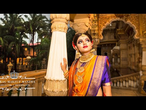 Maharashtrian Bridal Look,with Heavy Eye Makeup Look, Makeup Diploma Class START 18th Dec Mumbai