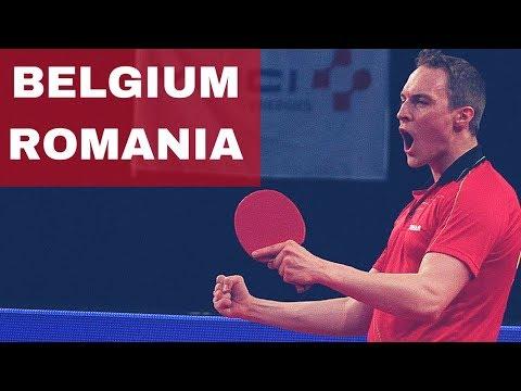BELGIUM - ROMANIA 2018 TABLE TENNIS - Szocs Ionescu Crisan / Nuytinck Lambiet Devos