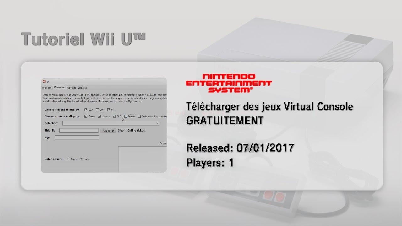 [FR] Comment télécharger des Virtual Console/Update/DLC sur notre Wii U!