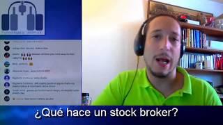 ¿Qué hace un stock broker?