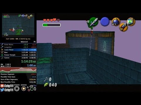 Ocarina of Time 100% Speedrun in 3:57:38