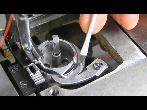 Juki LU 562 Bobbin Case Removal, How to load the bobbin and lift the thread