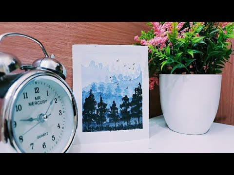 Watercolour painting for beginners |Malayalam |Easy and Simple Landscape painting|DIY