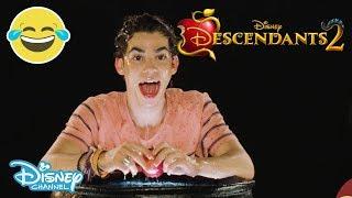 Descendants 2 Halloween Apple Bobbing Challenge ft Cameron Boyce